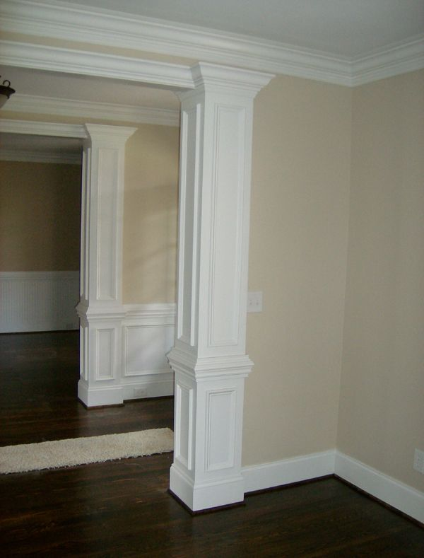 Decorative Molding On Columns Home Decor Pinterest